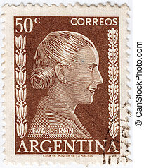 ARGENTINA - CIRCA 1948 : stamp printed in Argentina shows...