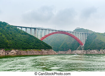 Bridge over the Yangtze in China