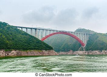 Bridge over the Yangtze in China