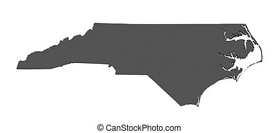 Map of North Carolina - USA