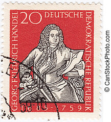 GDR - CIRCA 1959 : stamp printed in GDR ex East Germany...