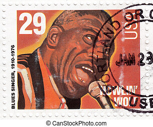 USA - CIRCA 1994 : stamp printed in USA shows blues singer...
