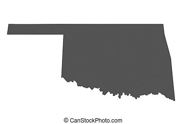Map of Oklahoma - USA - nonshaded