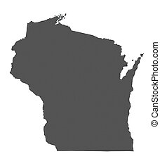 Map of Wisconsin - USA