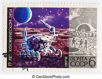 USSR - CIRCA 1972 : stamp printed in USSR ( now is Russia)...