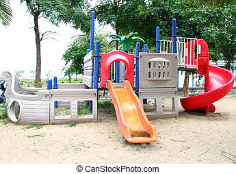 playgrounds in park - playgrounds with out children in park