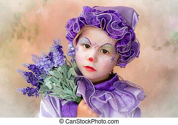 Lavender clown girl