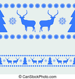 Nordic pattern with deer silhouettes. EPS 8