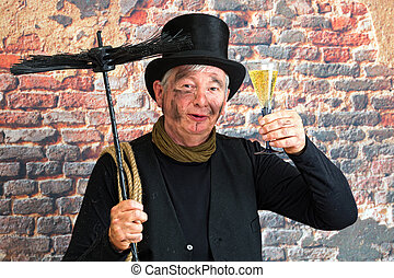 Chimney sweep new year toast