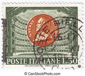 ITALY - CIRCA 1963 : stamp printed in Italy shows Giuseppe...
