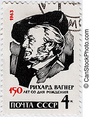 RUSSIA - CIRCA 1963 : stamp printed in Russia shows Richard...