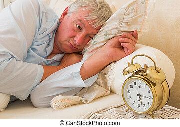 Sleepy in bed