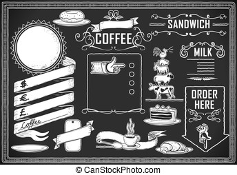 vintage graphic element for bar menu - Detailed illustration...