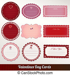 Vector set of card valentine's day