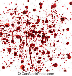 spots and splashes of blood