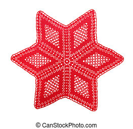 Christmas star - Openwork crochet doily, the Christmas star,...