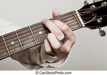 playing a chord