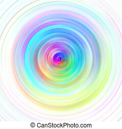 background of colored concentric circles - abstract...
