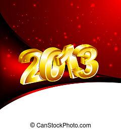 nouveau, 2013, année, conception, Gabarit