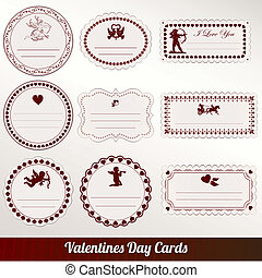 Vector set card of valentine s day
