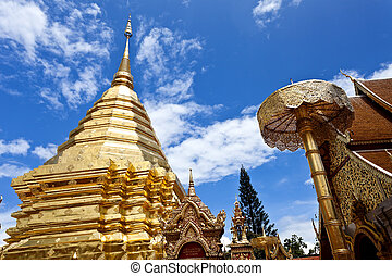 Wat Phrathat Doi Suthep temple in Chiang Mai, Thailand