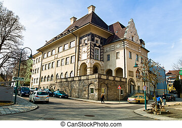 old school building in linz, austria - an old school...