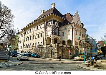 old school building in linz, austria - an old school...