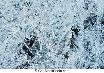 Intertwined - Frosty pattern on window in winter season