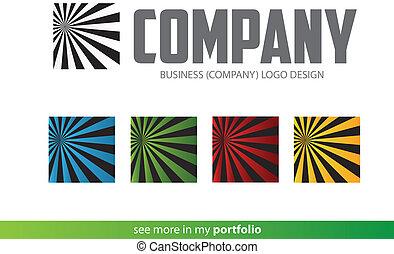 Company Logo Square Design,Vector