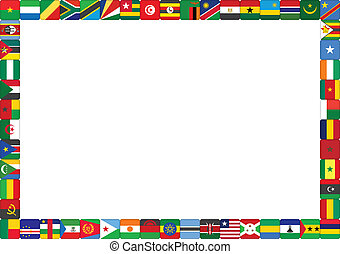 frame made of African countries flags vector illustration
