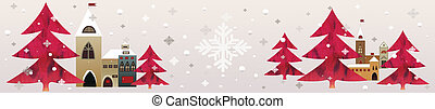 christmas background - red christmas snow background collage