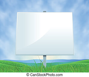 Spring Or Summer Landscape White Billboard