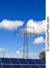 pylons and solar cells - solar cells for the production of...
