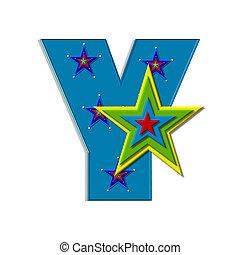 """Alpha Star Quality Y - Y, in the alphabet set """"Star..."""