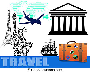 Traveling concept background