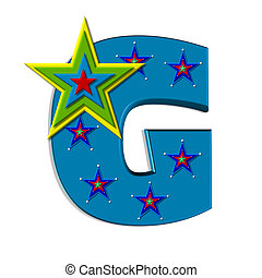 Alpha Star Quality G - G, in the alphabet set Star Quality,...