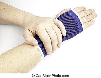 Injured wrist