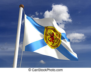 Nova Scotia flag Canada (isolated with clipping path)