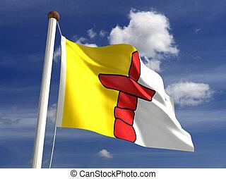 Nunavut flag Canada