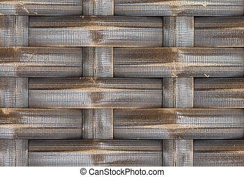 Interlace - Thai handcraft of bamboo weave pattern for...