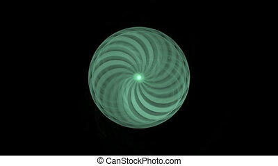abstract rotating green object