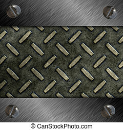 diamond plate - metal diamond plate