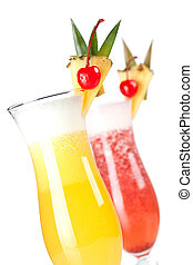 Cocktail collection: Strawberry and Classic Pina Colada...