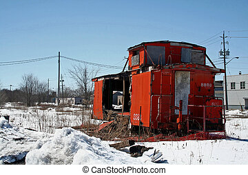 Abandonned Caboose - An Abandoned and burned out Caboose...
