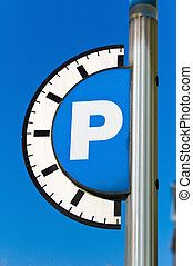 parking fee for parking - for parking on a street in a city...