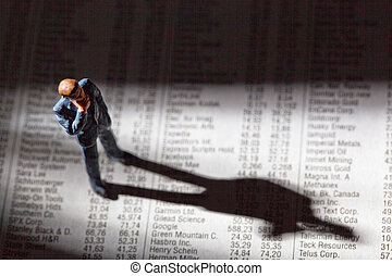 share prices in a newspaper