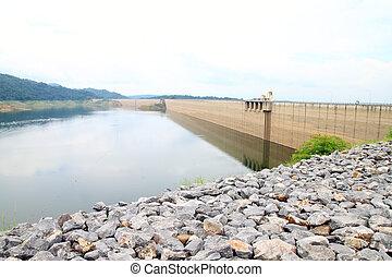 Khun Dan Prakan Chon Dam, Nakhon Nayok, Thailand - Backside...