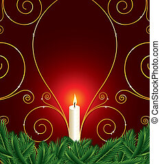 christmas background with candle
