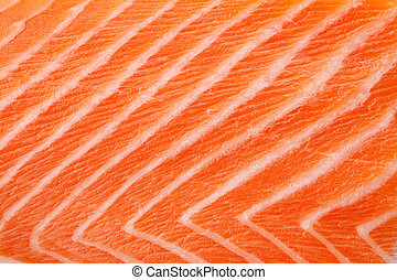 Fresh red salmon texture Closeup