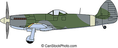 Supermarine colors - Vector illustration of a supermarine...